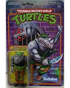 SUPER 7 REACTION FIGURES 3.75インチアクションフィギュア TEENAGE MUTANT NINJA TURTLES ROCKSTEADY 台紙傷み特価