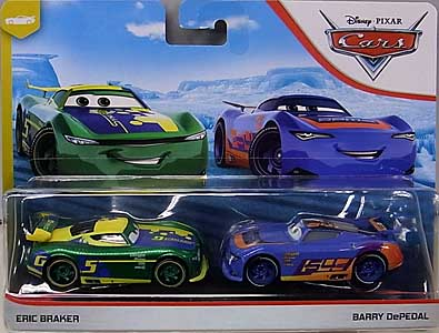 MATTEL CARS 2019 2PACK ERIC BRAKER & BARRY DEPEDAL 台紙傷み特価