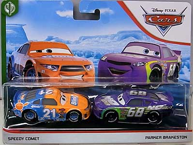 MATTEL CARS 2019 2PACK SPEEDY COMET & PARKER BRAKESTON