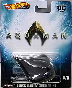 MATTEL HOT WHEELS 1/64スケール 2019 RETRO ENTERTAINMENT 映画版 AQUAMAN BLACK MANTA SUBMARINE