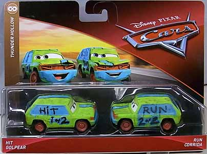 MATTEL CARS 2018 2PACK HIT & RUN 台紙傷み特価