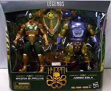 HASBRO MARVEL LEGENDS 2019 2PACK HYDRA HYDRA SUPREME & ARNIM ZOLA パッケージ傷み特価