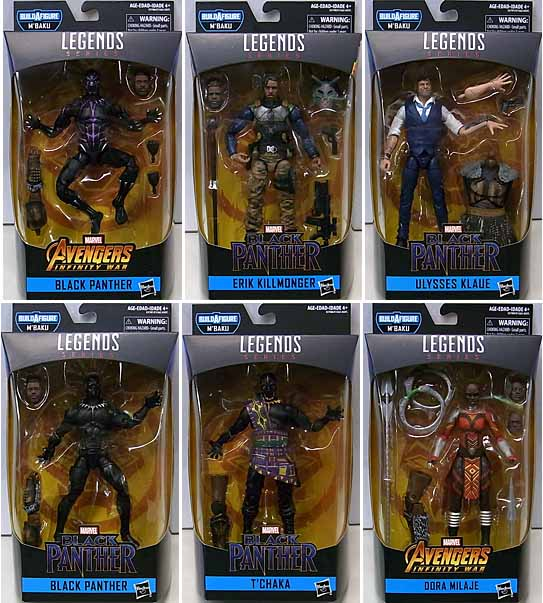 HASBRO MARVEL LEGENDS 2019 BLACK PANTHER SERIES 2.0 6種セット [M'BAKU SERIES]