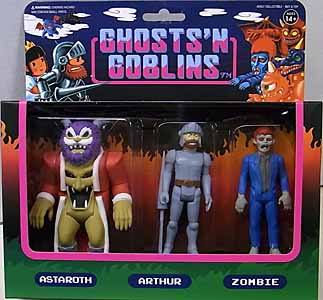 SUPER 7 REACTION FIGURES 3.75インチアクションフィギュア GHOSTS'N GOBLINS 3PACK A