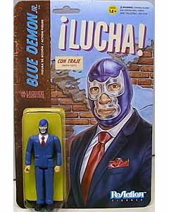 SUPER 7 REACTION FIGURES 3.75インチアクションフィギュア THE LEGENDS OF LUCHA LIBRE BLUE DEMON JR. IN SUIT