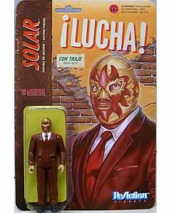 SUPER 7 REACTION FIGURES 3.75インチアクションフィギュア THE LEGENDS OF LUCHA LIBRE SOLAR IN SUIT