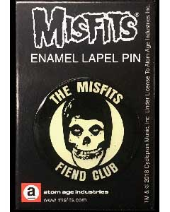 ATOM AGE INDUSTRIES ENAMEL PIN MISFITS FIEND CLUB [GLOW IN THE DARK]