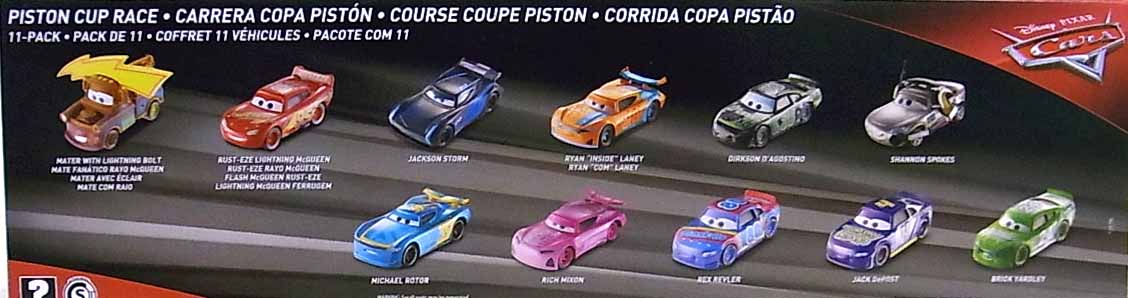 MATTEL CARS 2018 PISTON CUP RACE 11PACK [MICHAEL ROTOR入り]