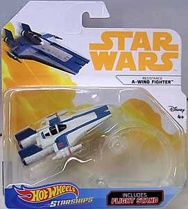 MATTEL HOT WHEELS STAR WARS DIE-CAST VEHICLE 2018 RESISTANCE A-WING FIGHTER