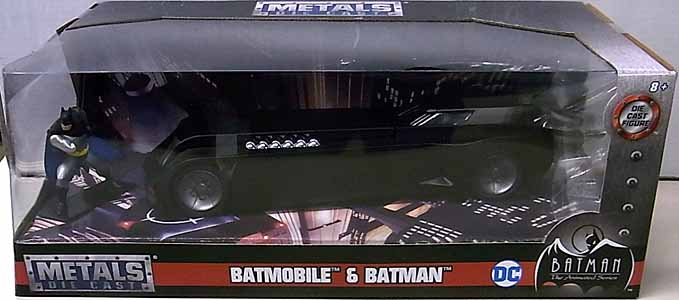 JADA TOYS METALS DIE CAST 1/24スケール BATMAN THE ANIMATED SERIES BATMOBILE & BATMAN パッケージワレ特価