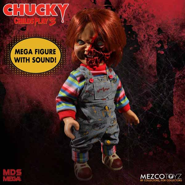 MEZCO DESIGNER SERIES CHILD'S PLAY 3 TALKING PIZZA FACE CHUCKY パッケージ傷み特価