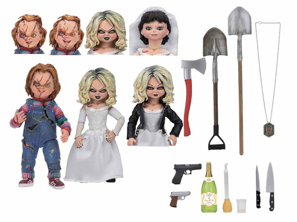 NECA BRIDE OF CHUCKY 7インチスケールアクションフィギュア ULTIMATE CHUCKY & TIFFANY 2PACK