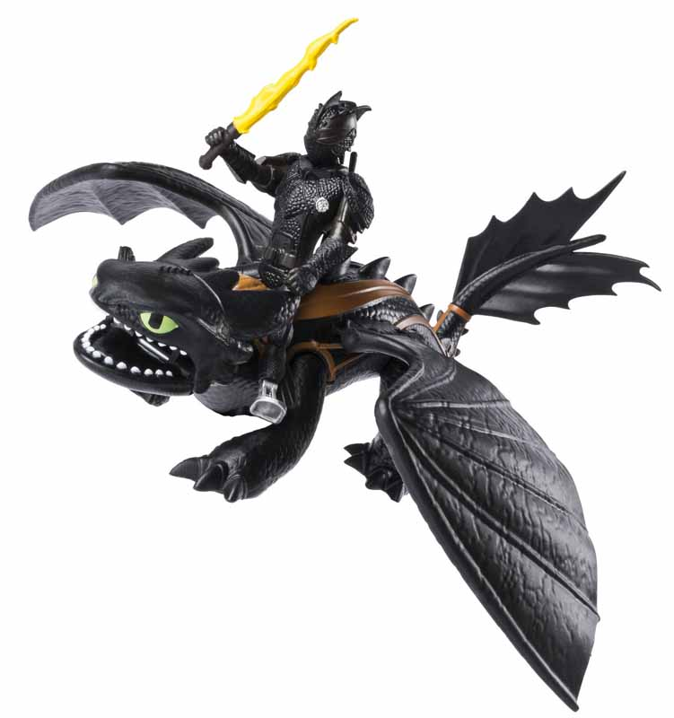 SPIN MASTER HOW TO TRAIN YOUR DRAGON: THE HIDDEN WORLD DRAGON WITH ARMORED VIKING FIGURE [HICCUP & TOOTHLESS]
