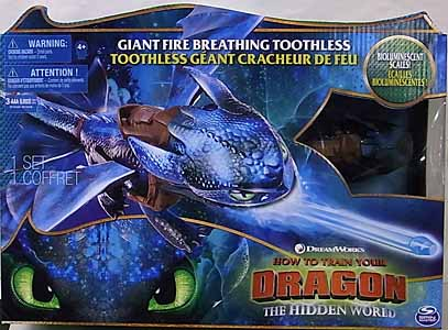 SPIN MASTER HOW TO TRAIN YOUR DRAGON: THE HIDDEN WORLD GIANT FIRE BREATHING TOOTHLESS