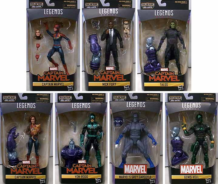 HASBRO MARVEL LEGENDS 2019 CAPTAIN MARVEL SERIES 1.0 7種セット [KREE SENTRY SERIES]