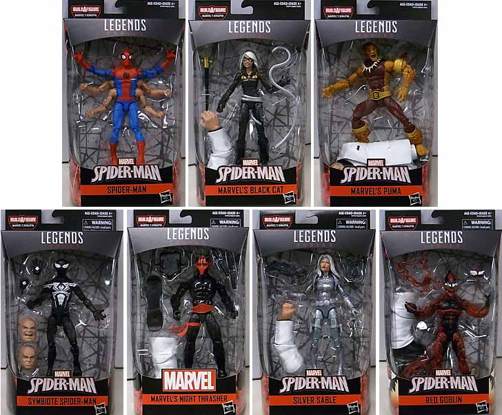 HASBRO MARVEL LEGENDS 2019 SPIDER-MAN SERIES 9.0 7種セット [KINGPIN SERIES]