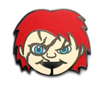 YESTERDAYS ENAMEL PIN HORROR EMOJI CHUCKY
