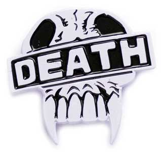 YESTERDAYS ENAMEL PIN 2000AD JUDGE DEATH