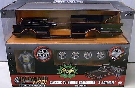 JADA TOYS METALS DIE CAST BUILD N' COLLECT 1/24スケール BATMAN CLASSIC TV SERIES CLASSIC TV SERIES BATMOBILE & BATMAN