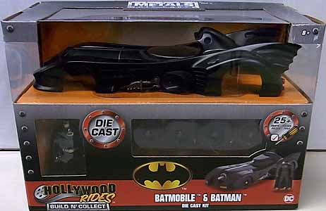 JADA TOYS METALS DIE CAST BUILD N' COLLECT 1/24スケール BATMAN 1989 BATMOBILE & BATMAN