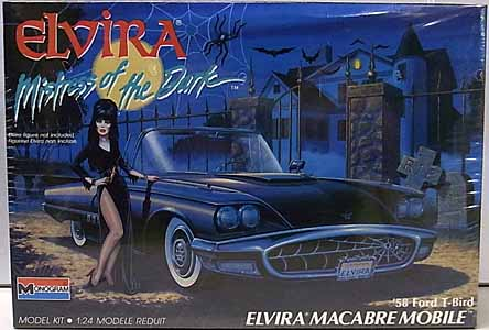 MONOGRAM 1/24スケール ELVIRA MISTRESS OF THE DARK MACABRE MOBILE 58 FORD T-BIRD 組み立て式プラモデル