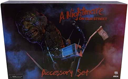 NECA A NIGHTMARE ON ELM STREET ACCESSORY SET パッケージ傷み特価