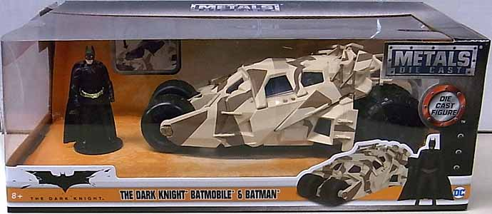 JADA TOYS METALS DIE CAST 1/24スケール BATMAN THE DARK KNIGHT THE DARK KNIGHT BATMOBILE [CAMO] & BATMAN