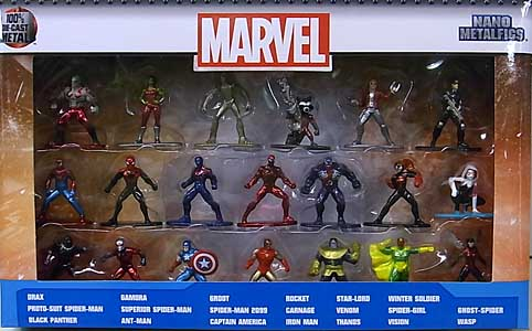 JADA TOYS NANO METALFIGS MARVEL 20PACK