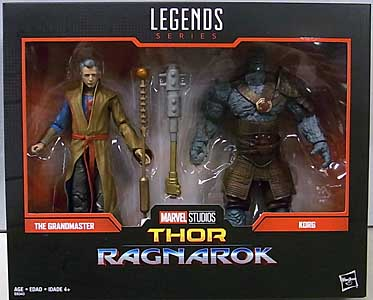 HASBRO MARVEL LEGENDS 2019 2PACK 映画版 THOR: RAGNAROK THE GRANDMASTER & KORG