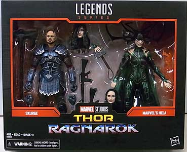HASBRO MARVEL LEGENDS 2019 2PACK 映画版 THOR: RAGNAROK SKURGE & MARVEL'S HELA