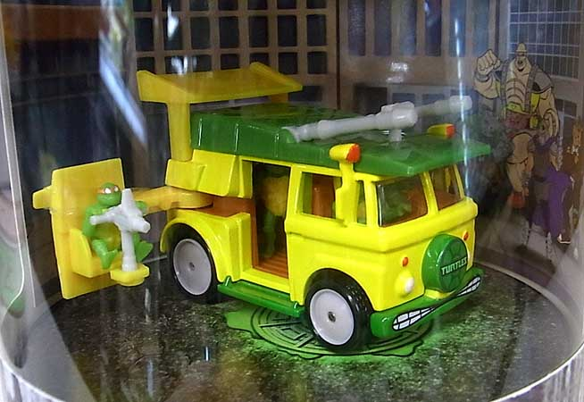 2019年 サンディエゴ・コミコン限定 MATTEL HOT WHEELS 1/64スケール TEENAGE MUTANT NINJA TURTLES PARTY WAGON VEHICLE