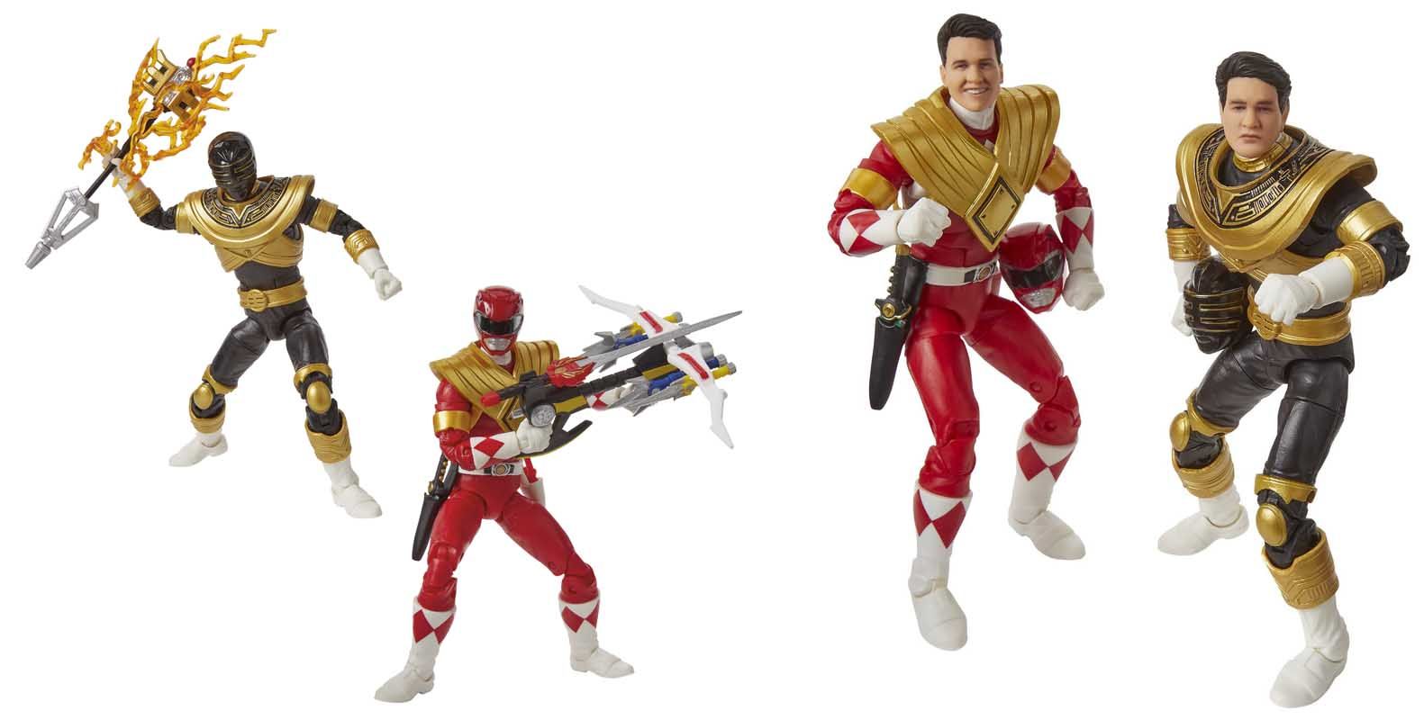 2019年 サンディエゴ・コミコン限定 HASBRO POWER RANGERS LIGHTNING COLLECTION 6インチアクションフィギュア 2PACK MIGHTY MORPHIN RED & ZEO GOLD RANGER