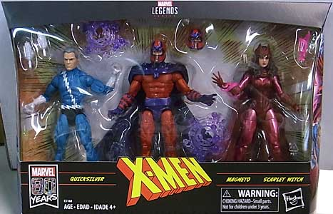 HASBRO MARVEL LEGENDS 2019 3PACK X-MEN QUICKSILVER & MAGNETO & SCARLET WITCH パッケージ傷み特価