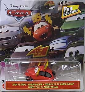 MATTEL CARS 2019 FAN FAVORITES シングル TEAM 95 AND 51 MADDY McGEAR ブリスターワレ特価