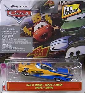 MATTEL CARS 2019 FAN FAVORITES シングル TEAM 51 RAMONE