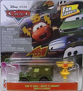 MATTEL CARS 2019 FAN FAVORITES シングル TEAM 95 SARGE 台紙傷み特価