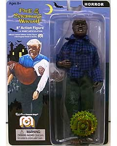 MEGO 8INCH ACTION FIGURE FACE OF THE SCREAMING WEREWOLF SCREAMING WEREWOLF [BLUE PLAID SHIRT]
