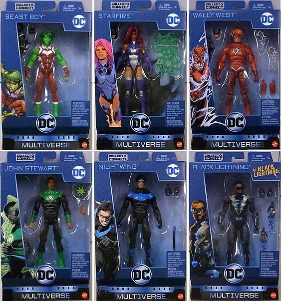 MATTEL DC MULTIVERSE 6インチアクションフィギュア NINJA BATMAN SERIES 6種セット