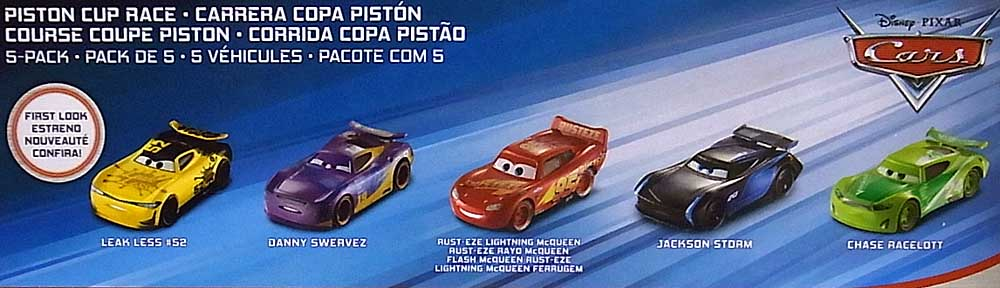 MATTEL CARS 2018-2019 PISTON CUP RACE 5PACK パッケージ傷み特価