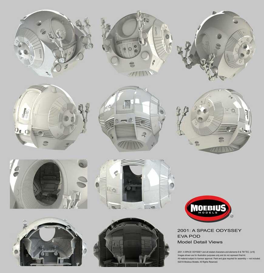 メビウスモデル 1/8スケール 2001年宇宙の旅 スペースポッド 組み立て式プラモデル