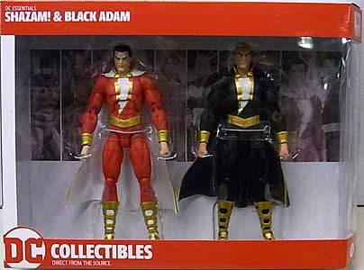 DC COLLECTIBLES DC ESSENTIALS SHAZAM! & BLACK ADAM 2PACK