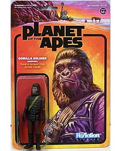 SUPER 7 REACTION FIGURES 3.75インチアクションフィギュア PLANET OF THE APES WAVE 2 GORILLA SOLDIER [HUNTER]