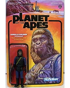 SUPER 7 REACTION FIGURES 3.75インチアクションフィギュア PLANET OF THE APES WAVE 2 GORILLA SOLDIER [PATROLMAN]