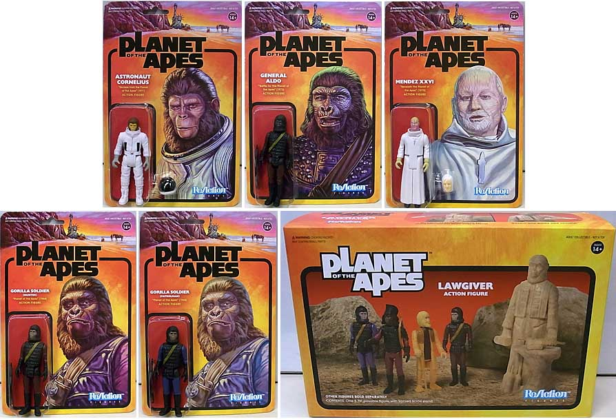 SUPER 7 REACTION FIGURES 3.75インチアクションフィギュア PLANET OF THE APES WAVE 2 6種セット