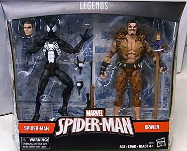 HASBRO MARVEL LEGENDS 2019 2PACK TARGET限定 SPIDER-MAN SYMBIOTE SPIDER-MAN & KRAVEN THE HUNTER