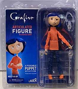 NECA CORALINE ARTICULATED FIGURE CORALINE [STRIPED SHIRTS]