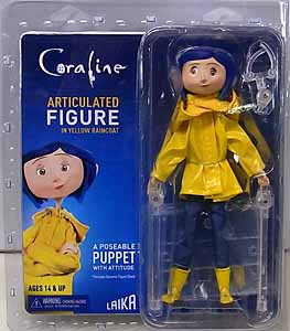 NECA CORALINE ARTICULATED FIGURE CORALINE [YELLOW RAINCOAT] ブリスター傷み特価