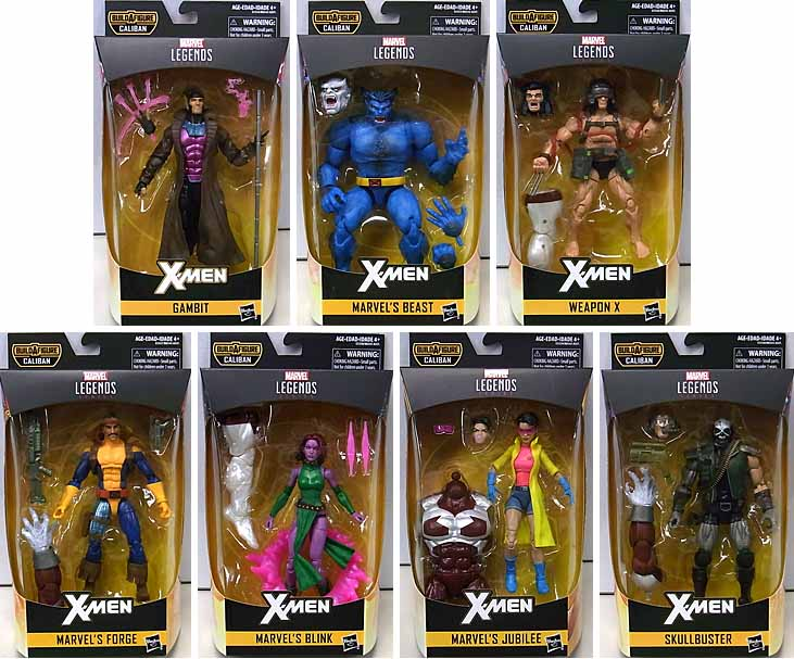 HASBRO MARVEL LEGENDS 2019 X-MEN SERIES 4.0 7種セット [CALIBAN SERIES]