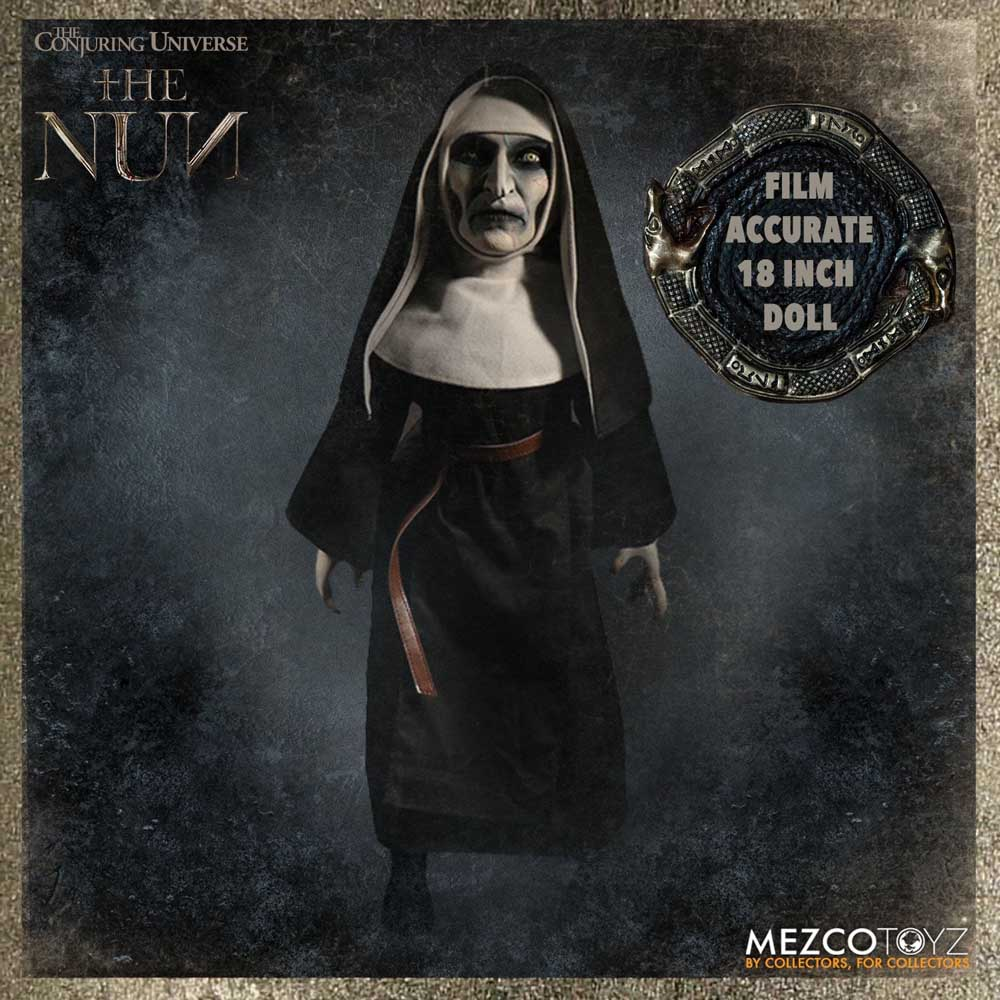 MEZCO THE CONJURING UNIVERSE THE NUN ROTO PLUSH DOLL