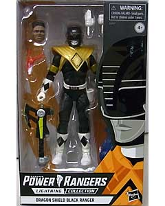 HASBRO POWER RANGERS LIGHTNING COLLECTION 6インチアクションフィギュア MIGHTY MORPHIN DRAGON SHIELD BLACK RANGER パッケージ破れ特価